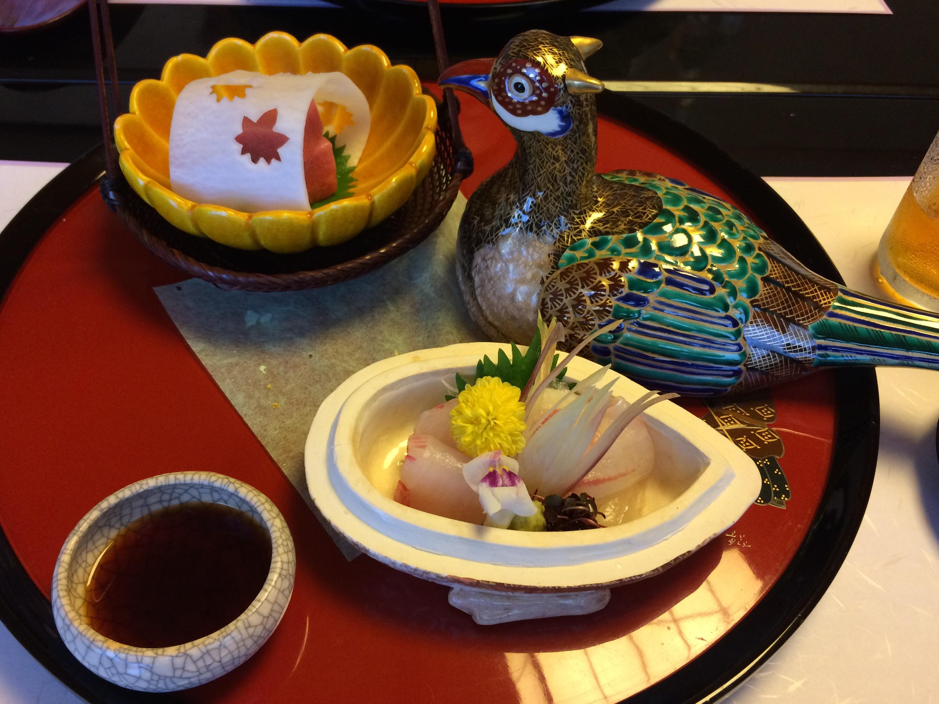 京都濱登久での食事 お造り